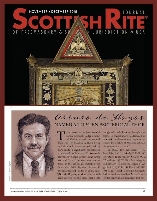 Scottish Rite Journal. Southern Jurisdiction. Portrait of Arturo de Hoyos by Travis Simpkins