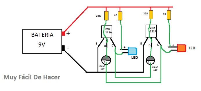 Circuito Luces Led Intermitentes : Luz estroboscópica o luces de policía caseras proyectos