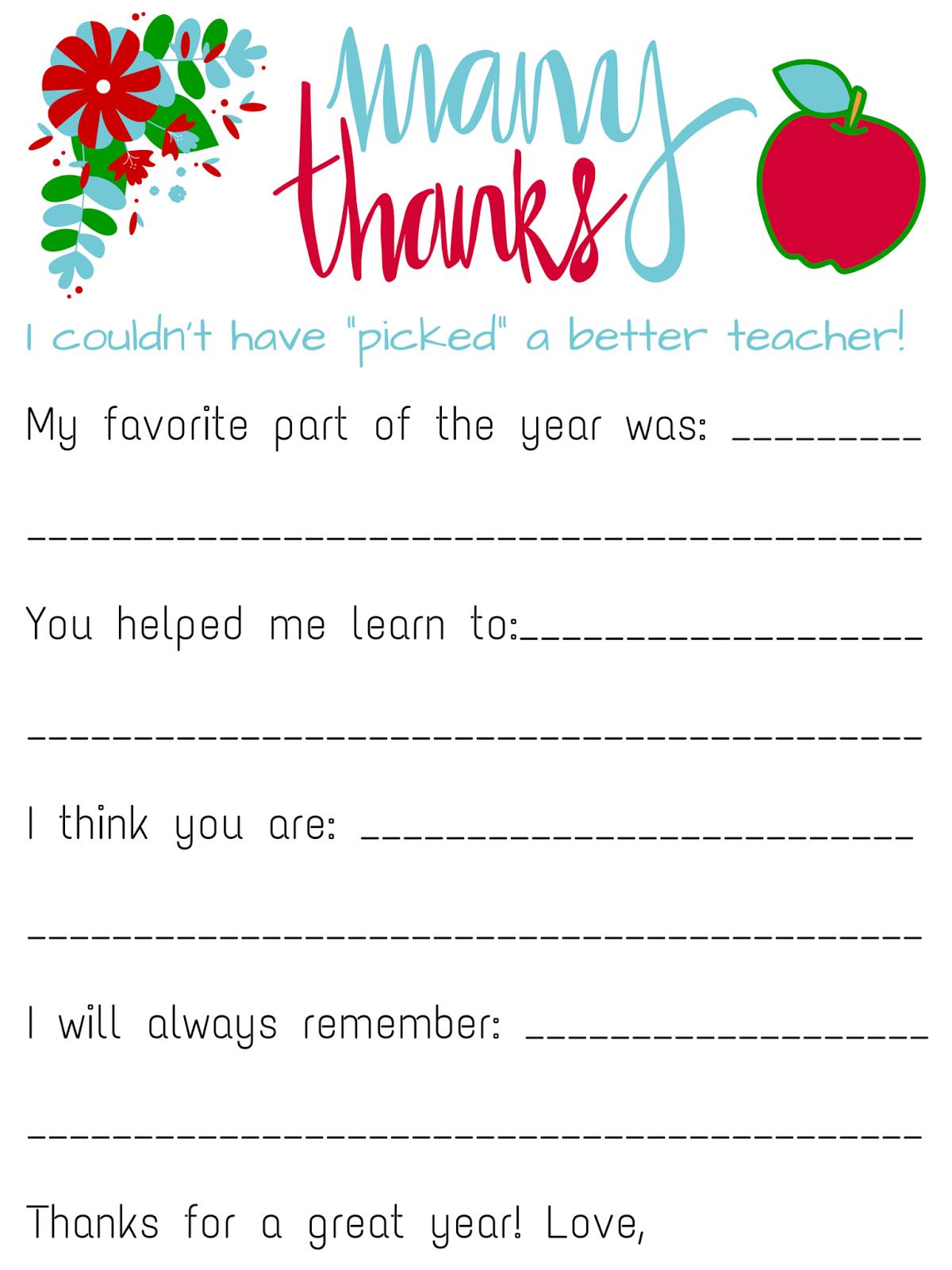 Savvy Spending: Free Teacher Appreciation Personalized Card!
