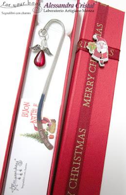 segnalibro metallo angelo colorato regalo Natale