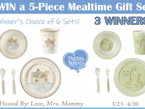 Precious Moments Mealtime Set! 3 Winner Giveaway!