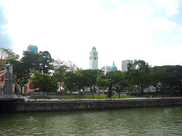 Victoria Monument near Raffles Place, Singapore