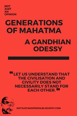 odessy of gandhian. Follower of mahatma gandhi