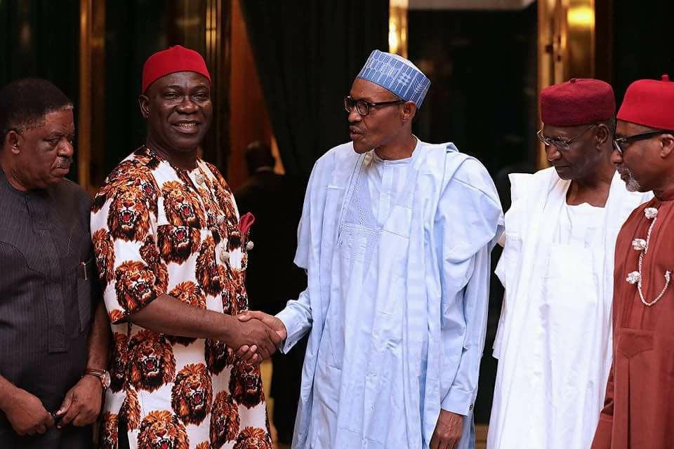 President Buhari meets Igbo senators