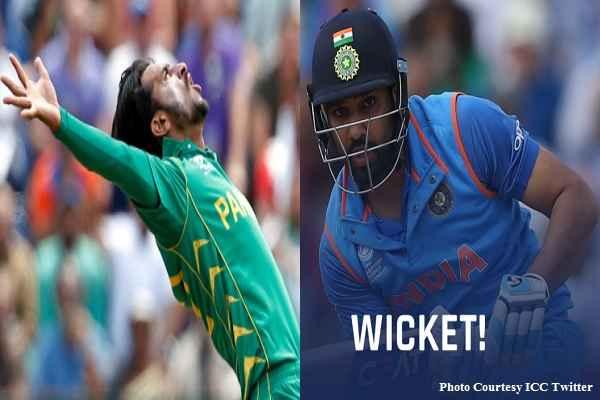 रोहित शर्मा को 0 पर आउट करके पाकिस्तानी गेंदबाज M Amir ने दी गाली, खेल भावना की उड़ाई धज्जियाँ