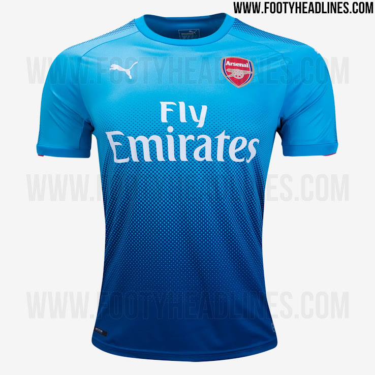 outlet store 4ae65 685c3 Arsenal 17-18 Home, Away And Third Kits Released - Footy ...
