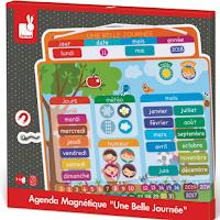 Un agenda avec 68 magnets pour les enfants
