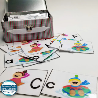 These January Literacy Centers ideas are fun word work for Kindergarten or First Grade. Student friendly and fun with a snowman, mitten, ice, snow, and snowflake themed winter activities. Will go great with anything teachers are teaching this January! Includes 9 centers with letter naming, sight word fluency, first sound fluency, nonsense words,phonemic awareness and more! Perfectly aligned with common core standards. #kindergartenclassroom #januarycenters