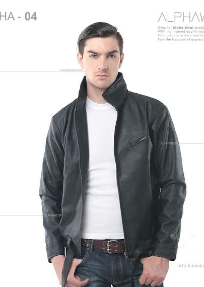 alphawear skull leather jacket