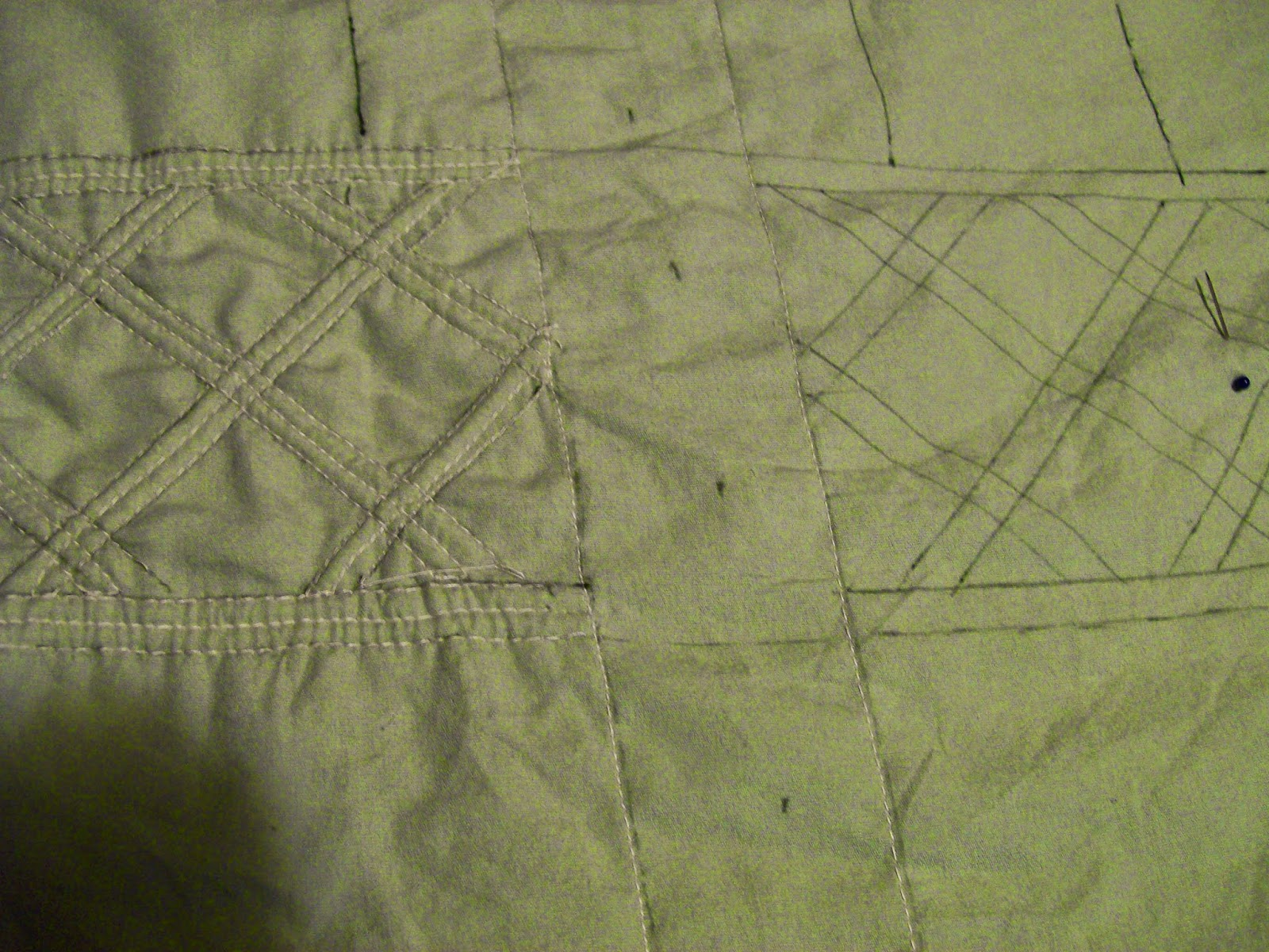 Trapunto quilting/cording on stays mock-up.