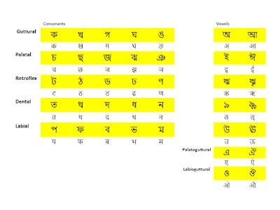 Bengali and Devanagari scripts