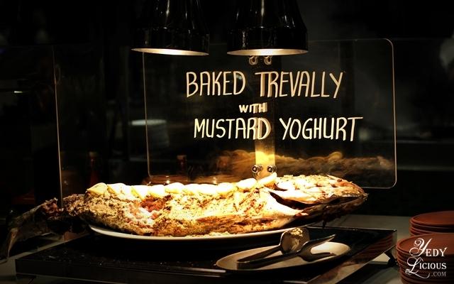 Baked Trevally, Indian Food Buffet at HYATT COD Manila