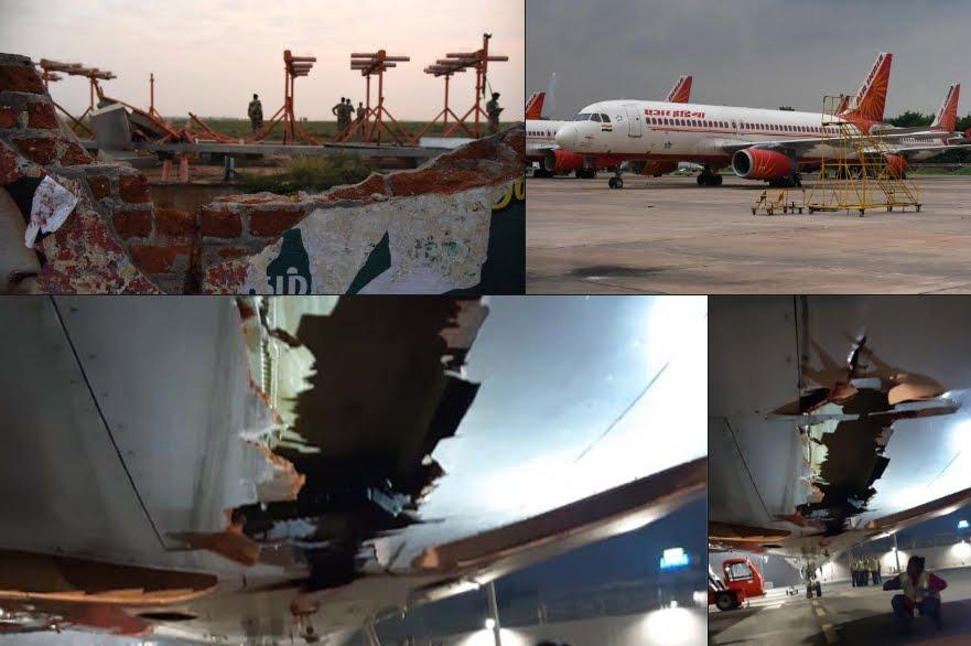 Aereo Air India colpisce il muro perimetrale dell'aeroporto durante il decollo
