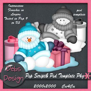 Freebie Snowman Psp Script & Template
