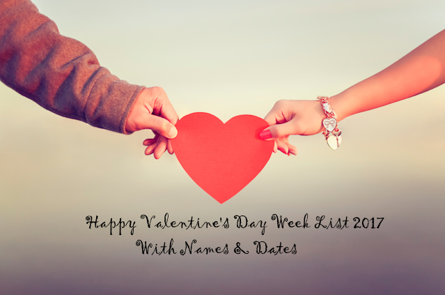 Valentine's Day Week List 2017