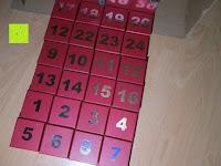 sortiert: Adventskalender als piratige rustikale Schatztruhe - 24 einzelnen Schatzboxen - Ideal für den Advent