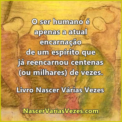 O ser humano é apenas a atual encarnação de um espírito que já reencarnou centenas de vezes. Livro Espírita
