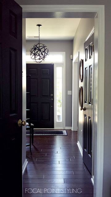awesome wooden black painting interior doors   FOCAL POINT STYLING: Painting Interior Doors Black ...