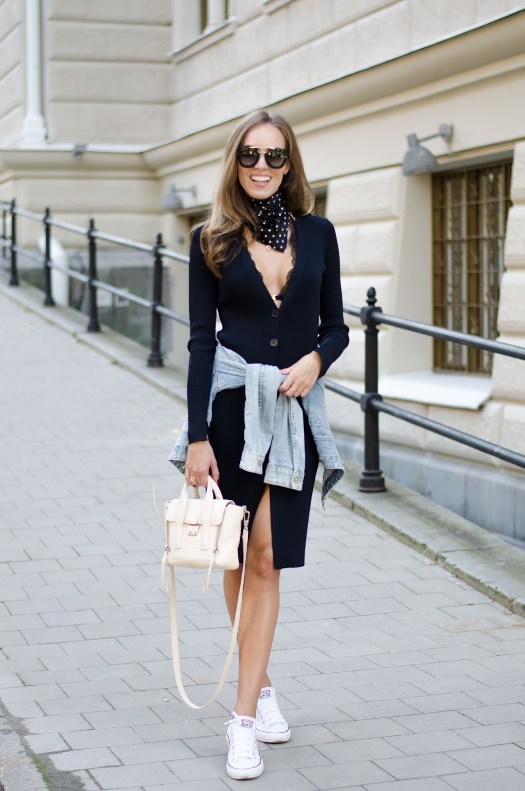 knitted bodycon dress fall outfit