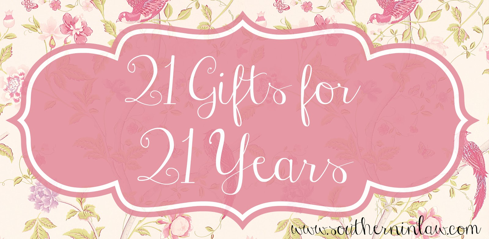 southern in law 21 gifts for 21 years being thankful on my 21st
