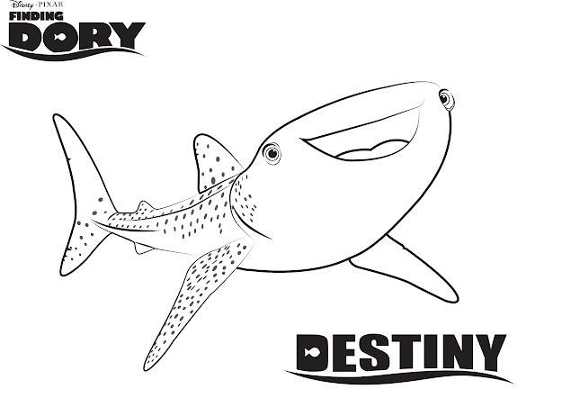 Disneys Finding Dory Coloring Pages Sheet Free Disney Printable Finding  Dory Color Page