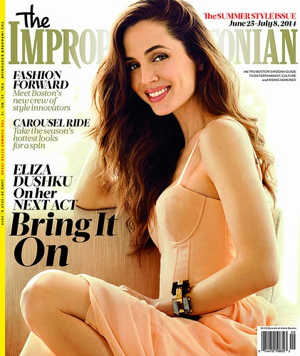 Eliza Dushku Covers The Improper Bostonian Magazine (July 2014) Issue