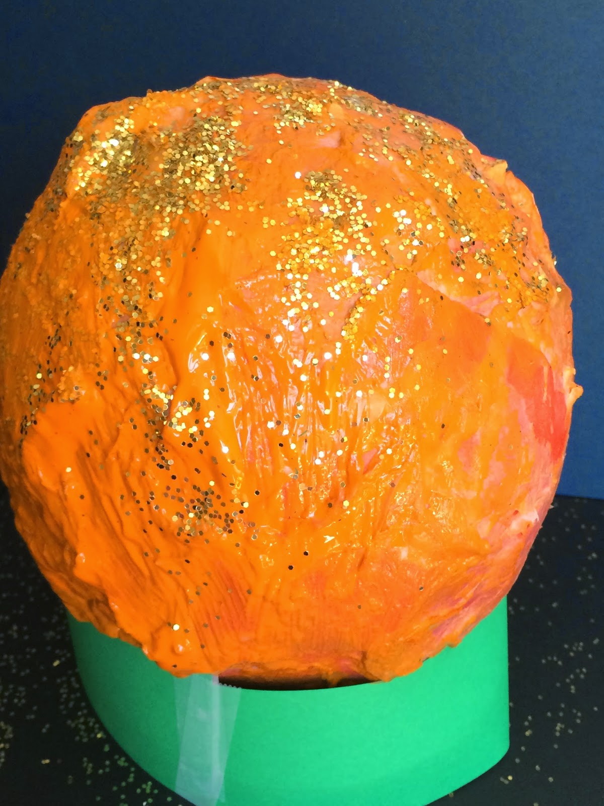 Mini Monets And Mommies Paper Mache Pumpkin Fall Art Activity