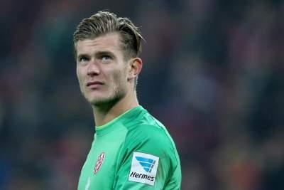 Young German keeper Karius being watched