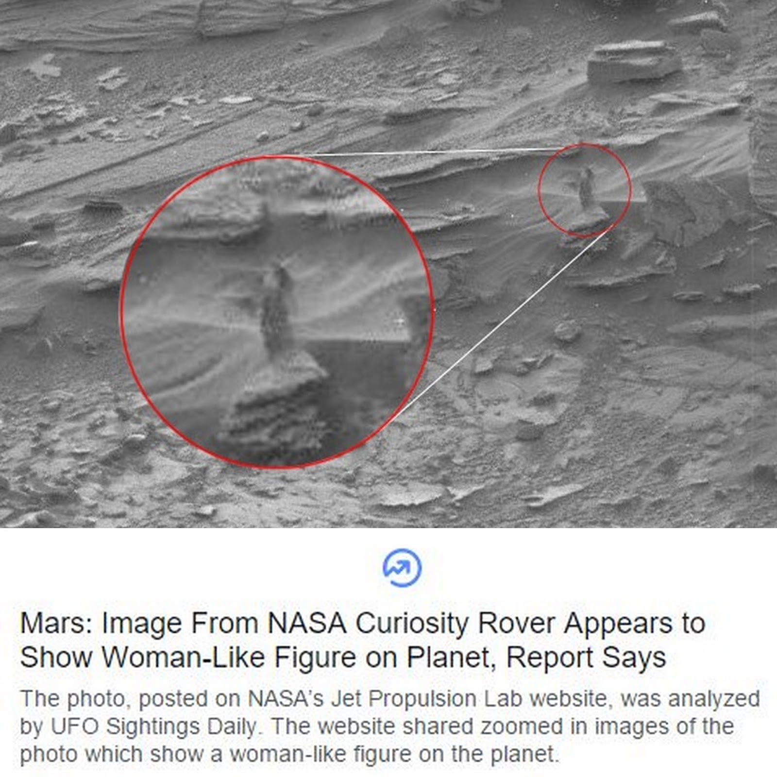 Woman On Mars? Ummm...Look To The Left!!!
