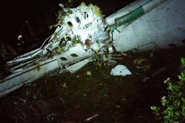 Avião da Chapecoense cai na Colômbia. Há pelo menos 76 mortos