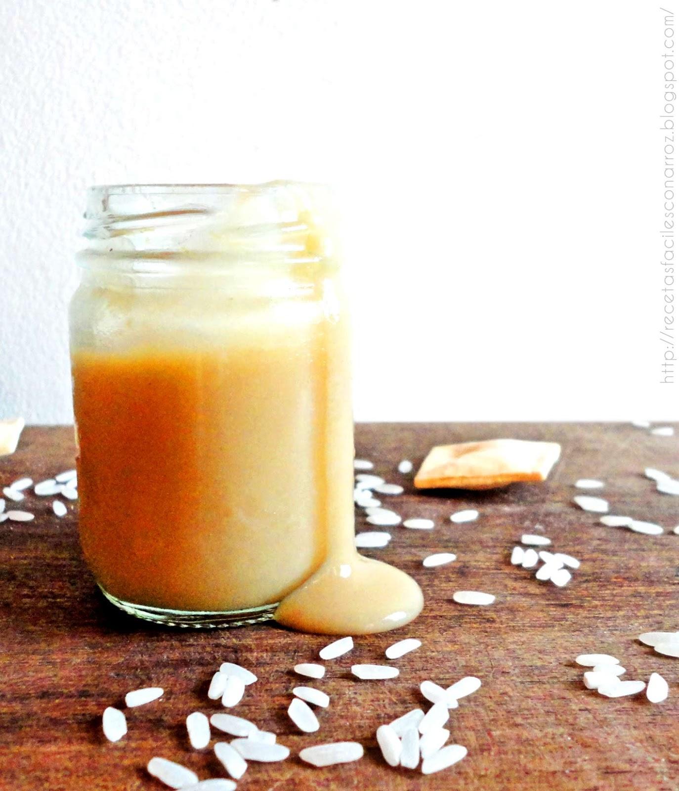 dulce de leche con leche de arroz