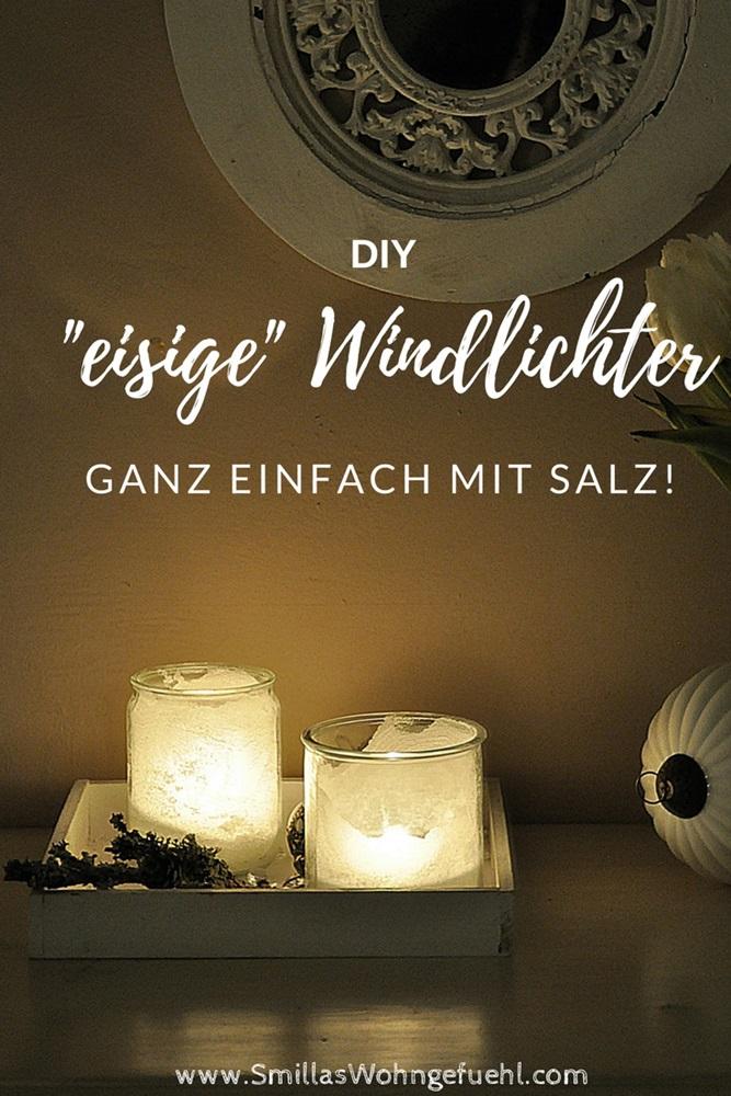 frostige Windlichter mit Salz DIY