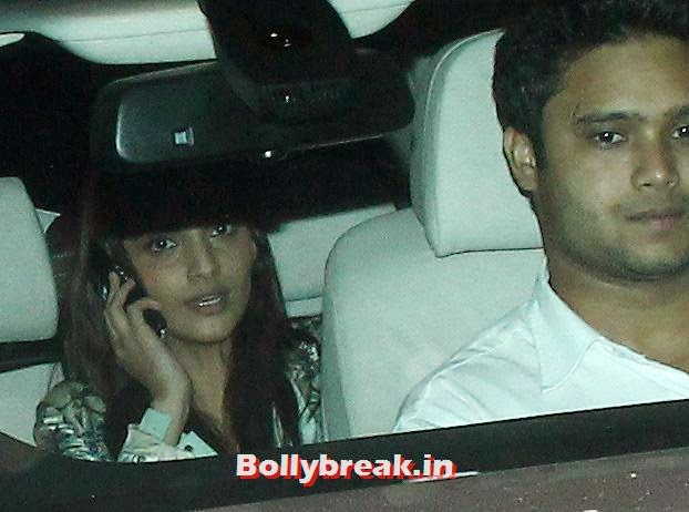 Sonam Kapoor, Bollywood celebs Clicked in their Cars at 2 States Special Screening
