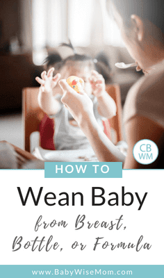 How To Wean Baby from Breast, Bottle, and Formula. Tips and strategies to help make the transition from breastfeeding and bottlefeeding smoother for baby.