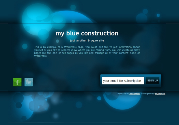 CREATE A PAGE UNDER CONSTRUCTION PROFESSIONAL FOR WORDPRESS