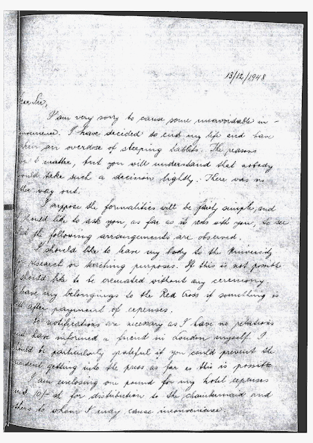 above you can see the enhanced image of tibors last letter in many ways it appears to be a sad but simple suicide note but as followers of this blog - French Ngel Muster