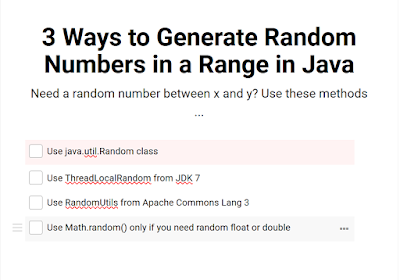 3 ways to create random numbers in a range in Java | Java67