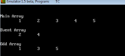 Q. Write a program to make three array name mArry, even & odd move array value in even & odd array respect to this type ?