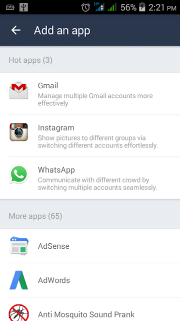 Access two whatsapp accounts on the same phone