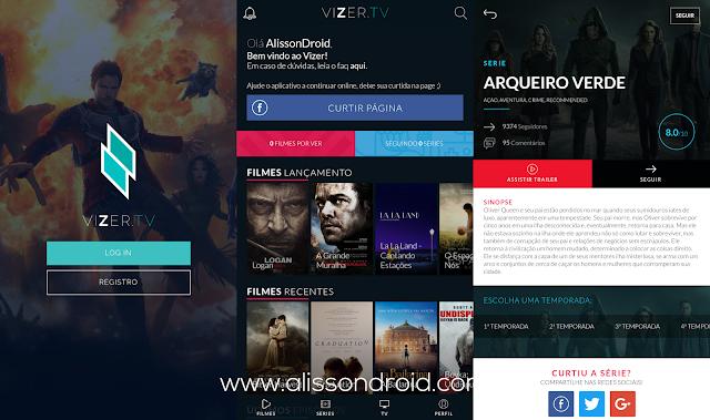 FIlmes e series gratis no celular - vizer tv android