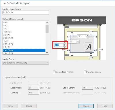 C7500 Default Label Boarder Setting