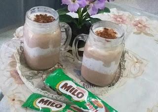 cara membuat es milo