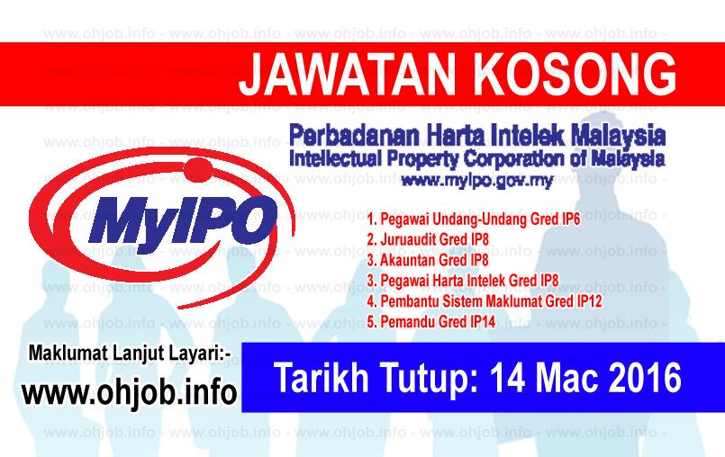 Jawatan Kerja Kosong Perbadanan Harta Intelek Malaysia (MyIPO) logo www.ohjob.info mac 2016