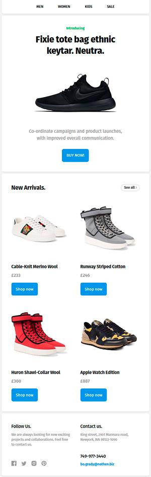 Plantilla gratis de Email Newsletter HTML para E-Commerce