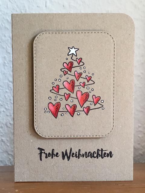 """""""Herzlicher Weihnachtsbaum"""" Heindesign, """"13 mal Frohe Weihnachten"""" Klartext Stempel"""