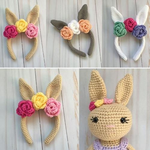Crochet Bunny Headband - Free Pattern