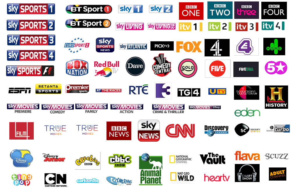 Sky UK US English iptv canada bbc itv