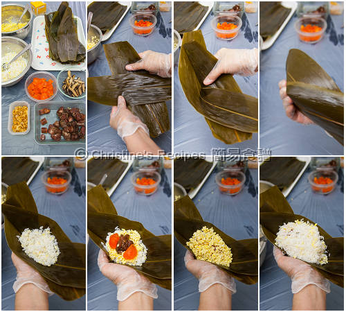 How To Wrap a Pyramid shaped Sticky Rice Dumpling01