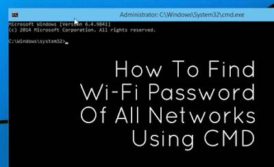 Cara mengetahui password WiFi dengan CMD windows 7