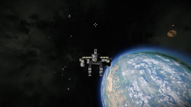 Space Engineers - пародия на корабль в пародии на звездную систему